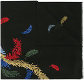 Janavi feather embroidered scarf