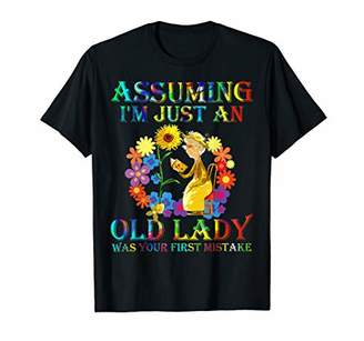 Assuming I'm Just An Old Lady Grandma Reading Books T-Shirt