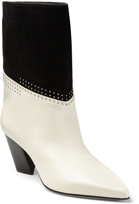 Jimmy Choo Bear 65mm Studded Suede/Leather Booties