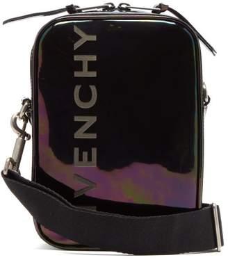 Givenchy Logo-debossed Iridescent Leather Messenger Bag - Mens - Multi