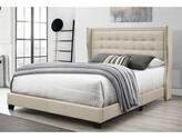 BEIGE Keya Upholstered Standard Bed Charlton Home Size: Full, Color