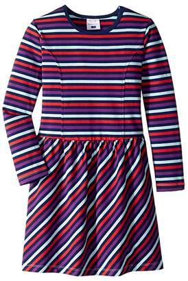 Toobydoo Long Sleeve Skater Dress (Toddler/Little Kids/Big Kids)
