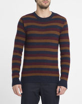 Oliver Spencer Multi-Colour Striped Round-Neck Sweater
