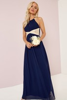 Thumbnail for your product : Little Mistress Navy Embellished Lace Panel Detail Maxi