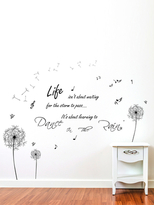 Dandelion and Dance In Rain Wall Sticker