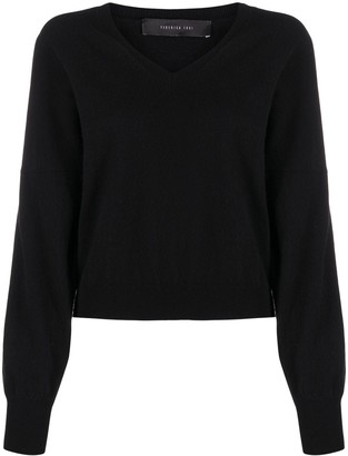 FEDERICA TOSI V-neck ribbed knit sweater
