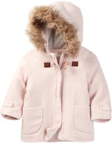 Jessica Simpson Faux Fur Trimmed Jacket (Baby Girls)