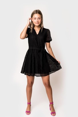 Gibson Medallion Lace Swing Dress