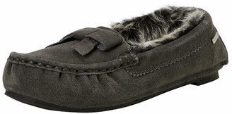Isotoner Women's Real Suede Moccasin Slippers Low-Top