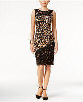 Thalia Sodi Lace-Trim Printed Sheath Dress, Only at Macy's