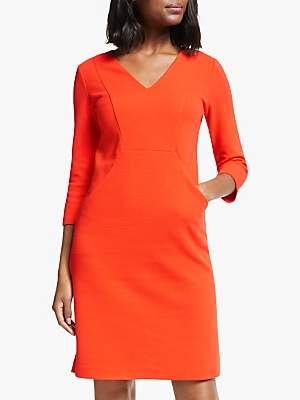 Boden Bronte Jersey Dress, Fire Cracker Orange