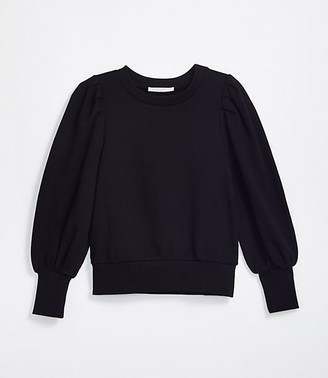 LOFT Puff Sleeve Sweatshirt