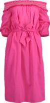 Blumarine Off Shoulder Belted Dress