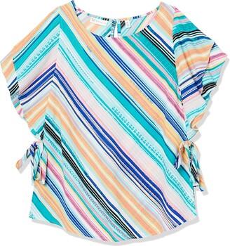 Rafaella Women's Salerno Stripe Short Flutter Sleeve Shirt