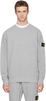 Stone Island Grey Logo Sweatshirt