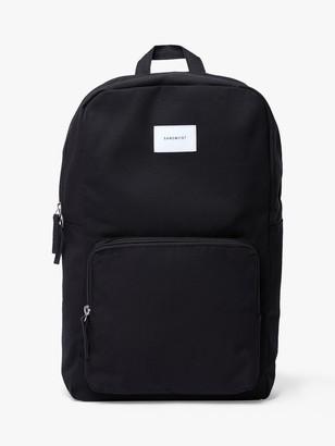 SANDQVIST Kim Grand Organic Cotton Backpack, Black