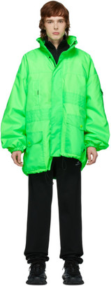 Green Pulled Parka by Balenciaga, available on shopstyle.com for $2890 Hailey Baldwin Outerwear Exact Product
