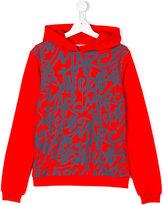 Little Marc Jacobs logo graffiti print hoodie