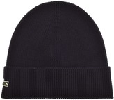 Lacoste Ribbed Beanie Navy