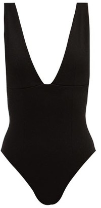 Haight Raquel V-neck Crepe Swimsuit - Black