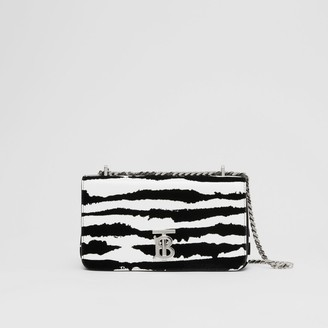 Burberry Small Watercolour Flock Leather Lola Bag
