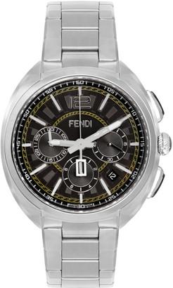 Fendi Silver Momento Chronograph Watch