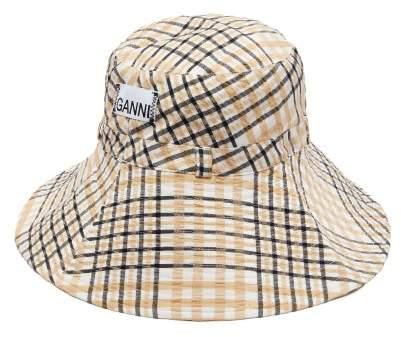 05521c9d8 Checked Seersucker Bucket Hat - Womens - Cream Print