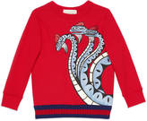 Gucci Children's sweatshirt with dragon print