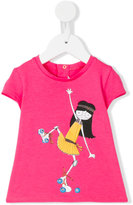 Little Marc Jacobs skater girl printed T-shirt