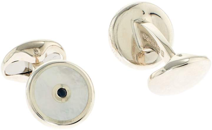 Deakin & Francis Mother-Of-Pearl And Sapphire Cufflinks