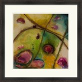 "Surya Marabeth Quin By Abstract Series No. 11 Lj-4125 0 Green 27"" X 27"" Abstract Wall Art"