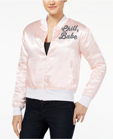 Hybrid Juniors' Chill Babe Patch Bomber Jacket