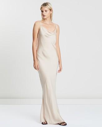 Shona Joy Women's Neutrals Maxi dresses - Luxe Bias Cowl Slip Dress - Size 12 at The Iconic