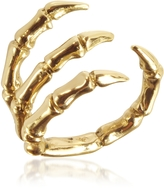 Forzieri Bernard Delettrez Golden Brid Claw Bronze Ring