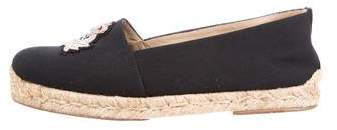 Christian Louboutin Canvas Espadrille Flats