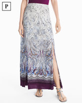 White House Black Market Petite Paisley Maxi Skirt