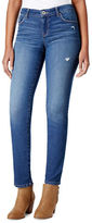 Style And Co. Petite Mid-Rise Slim Fit Five Pocket Jeans