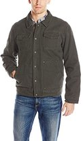 G.H. Bass Men's Laydown Collar Two Pocket Depot Jacket with Woodsman Plaid Lining