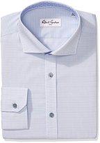 Robert Graham Men's Regular Fit Tonal Solid Spread Collar Dress Shirt