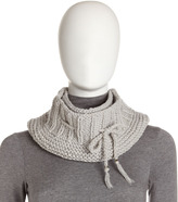 Hat Attack Crochet Drawstring Infinity Scarf, Pearl