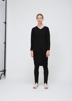 Oyuna Black Cashmere Wool Cocoon Dress