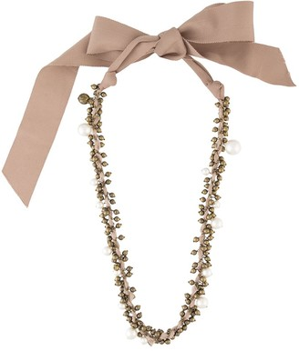 LANVIN Pre-Owned Pearl-Embellished Beaded Necklace