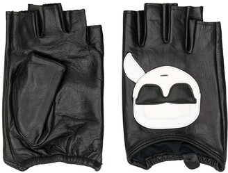 Karl Lagerfeld Paris fingerless gloves