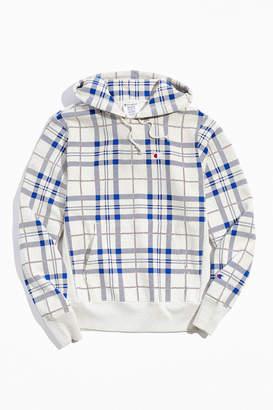 Champion UO Exclusive Plaid Reverse Weave Hoodie Sweatshirt