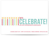 Minted Colorful Candles Party Invitations