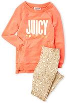 juicy couture (Girls 4-6x) 2-Piece Coral & Leopard Leggings Set