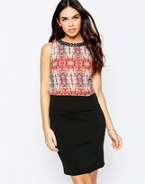 Little Mistress 2 in 1 Dress with Print Top