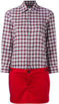 DSQUARED2 checked shirt dress - women - Cotton/Spandex/Elastane - 38