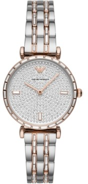 Emporio Armani Women's Two-Tone Stainless Steel & Crystal Bracelet Watch 32mm