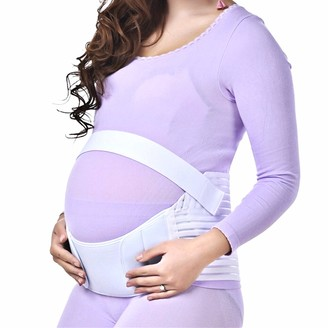 BabyBand Maternity Pregnancy Support Belt (Adjustable) Pelvic Stomach and Lower Back Support | Comfortable Belly and Waist Wrap | Relieve Hip Pelvis